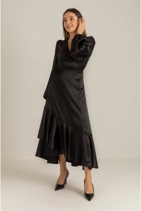 فستان رسمي طويل باكمام واسعة