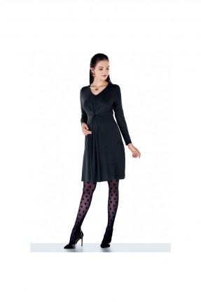 فستان حمل بياقة على شكل V