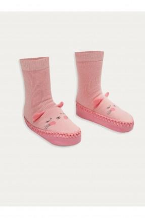 حذاء منزلي اطفال بناتي مزين بنقش