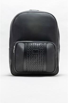 حقيبة ظهر رجالية مزينة بسحاب