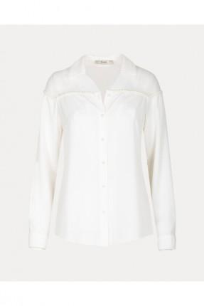 قميص نسائي سادة اللون