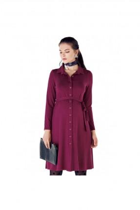فستان حمل مزين بازرار
