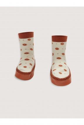 حذاء منزلي اطفال بناتي مزين بازهار