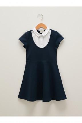 فستان اطفال بناتي مزين بياقة قميص