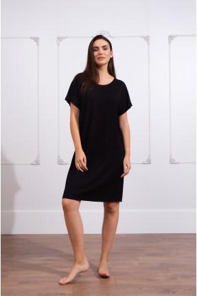 فستان قصير سادة اللون