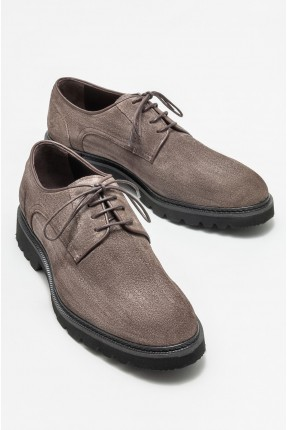 حذاء رجالي جلد مزين برباط