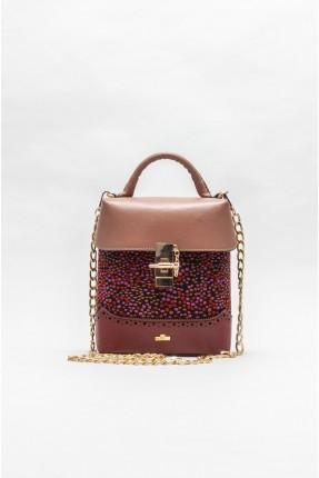 حقيبة يد نسائية مزينة بنقش