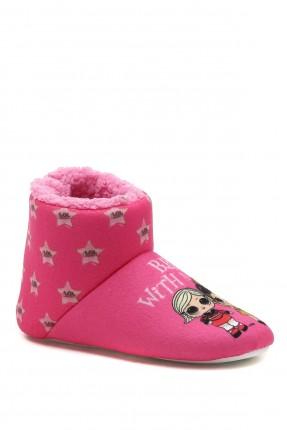 حذاء منزلي اطفال بناتي مزين بنجوم