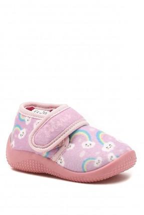 حذاء منزلي بيبي بناتي مزين بلاصق