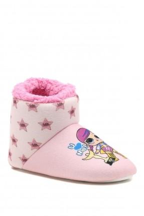حذاء منزلي اطفال بناتي مزين بطبعة