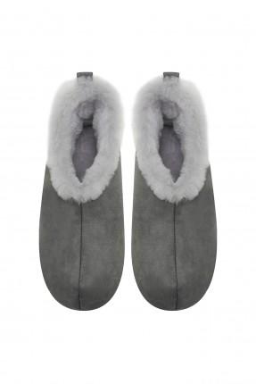 حذاء منزلي نسائي مزين بفرو