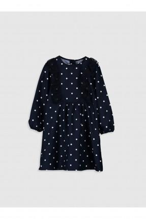 فستان اطفال بناتي منقط مزين بكشكش