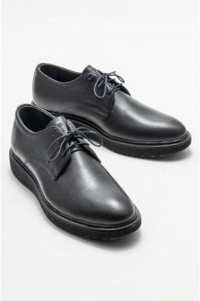 حذاء رجالي جلد سادة اللون