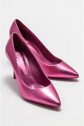 حذاء نسائي جلد لامع