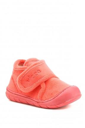 حذاء منزلي بيبي بناتي مزين بشعار الماركة