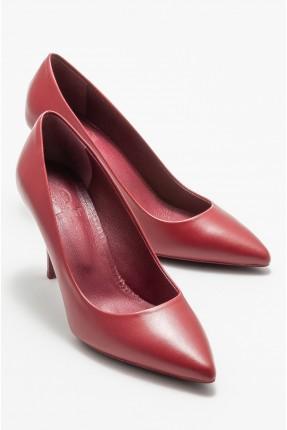 حذاء نسائي جلد سادة اللون
