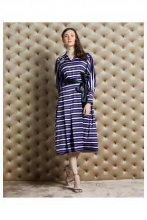 فستان رسمي مزين بحجر