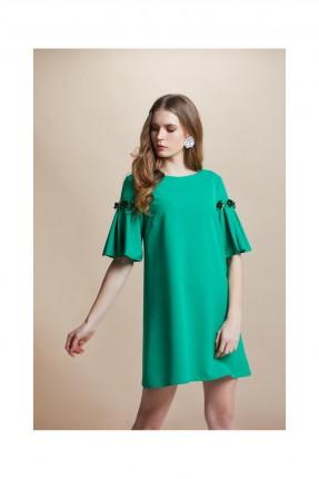 فستان مزين بتفاصيل على الاكمام