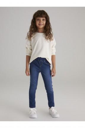 بنطال جينز اطفال بناتي بخصر مطاط
