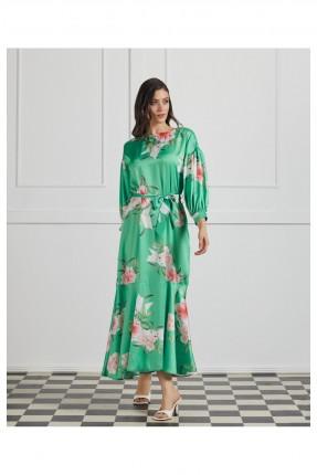 فستان رسمي مزين بنقشة زهور