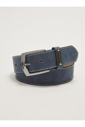 حزام رجالي مزين بشعار معدني