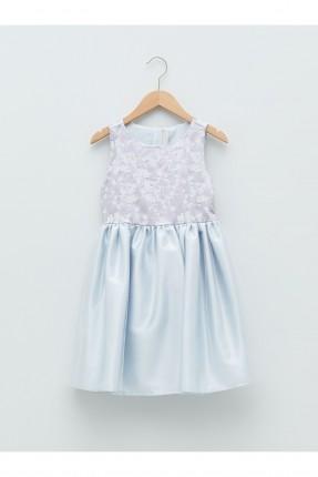 فستان اطفال بناتي رسمي مزين بدانتيل