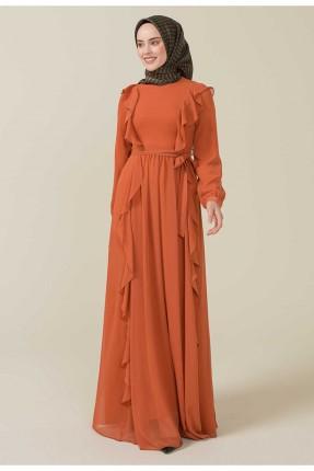 فستان رسمي مزين برباط على الخصر