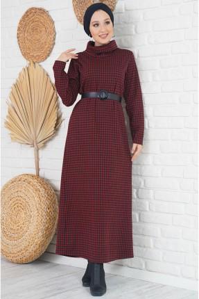 فستان طويل مزين بحزام