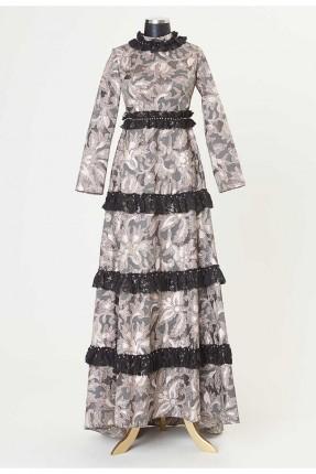 فستان رسمي مزين بدانتيل