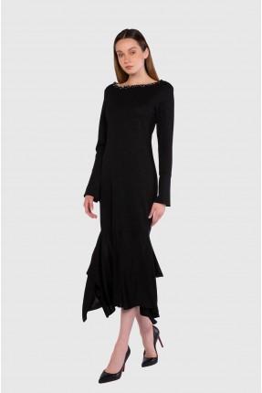 فستان رسمي مزين باحجار لامعة
