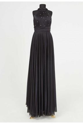 فستان رسمي مزين بتطريز على الصدر