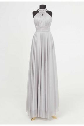 فستان رسمي مزين برباط على الياقة
