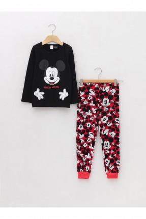 بيجاما اطفال بناتي بطبعة Mickey Mouse