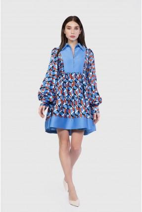 فستان رسمي قصير بياقة بولو
