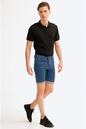 شورت جينز رجالي سادة اللون