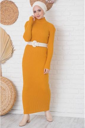 فستان طويل تريكو