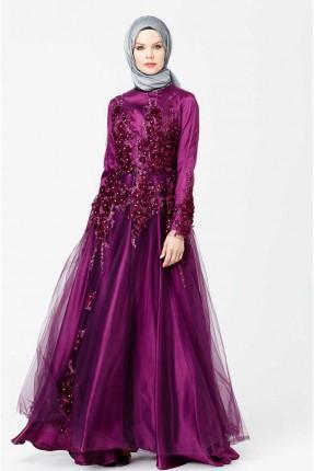 فستان رسمي مزين بازهار