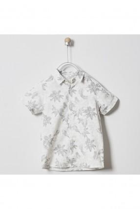 قميص اطفال ولادي بنقشة اوراق الشجر