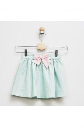 تنورة اطفال بناتي مقلمة مزينة بفيونكة
