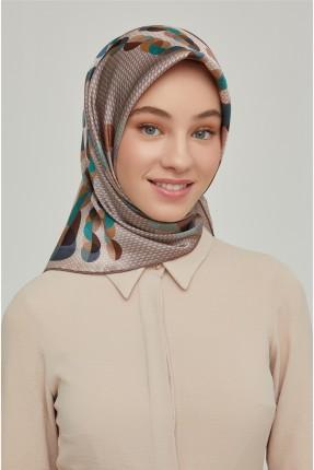 حجاب تركي مزين بدوائر