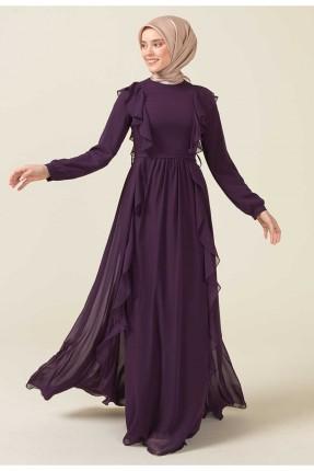 فستان رسمي باكمام طويلة