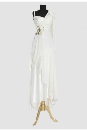 فستان رسمي مزين بازهار على الخصر