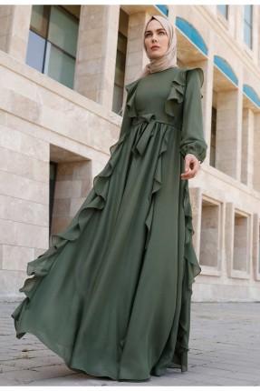 فستان رسمي طويل مزين برباط