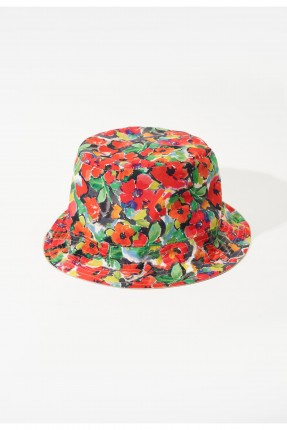 قبعة نسائية مزينة بنقش ازهار