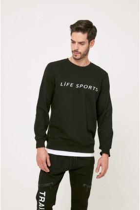 كنزة رجالية بكتابة Life Sports