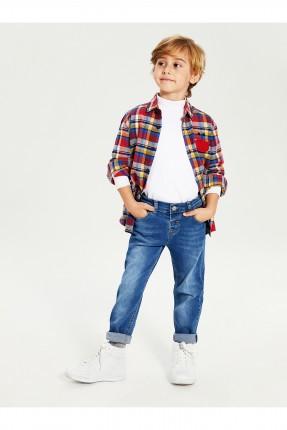 بنطال اطفال ولادي جينز بكحتة