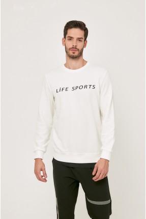 كنزة رجالية مزينة بكتابة Life Sports