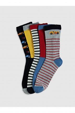 جوارب اطفال ولادي عدد 5 ملونة