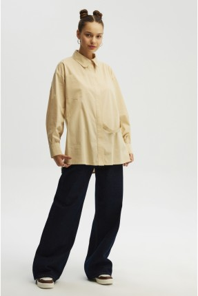 قميص نسائي باطراف غير متساوية الطول