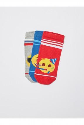 جوارب اطفال ولادي عدد 3 ملونة